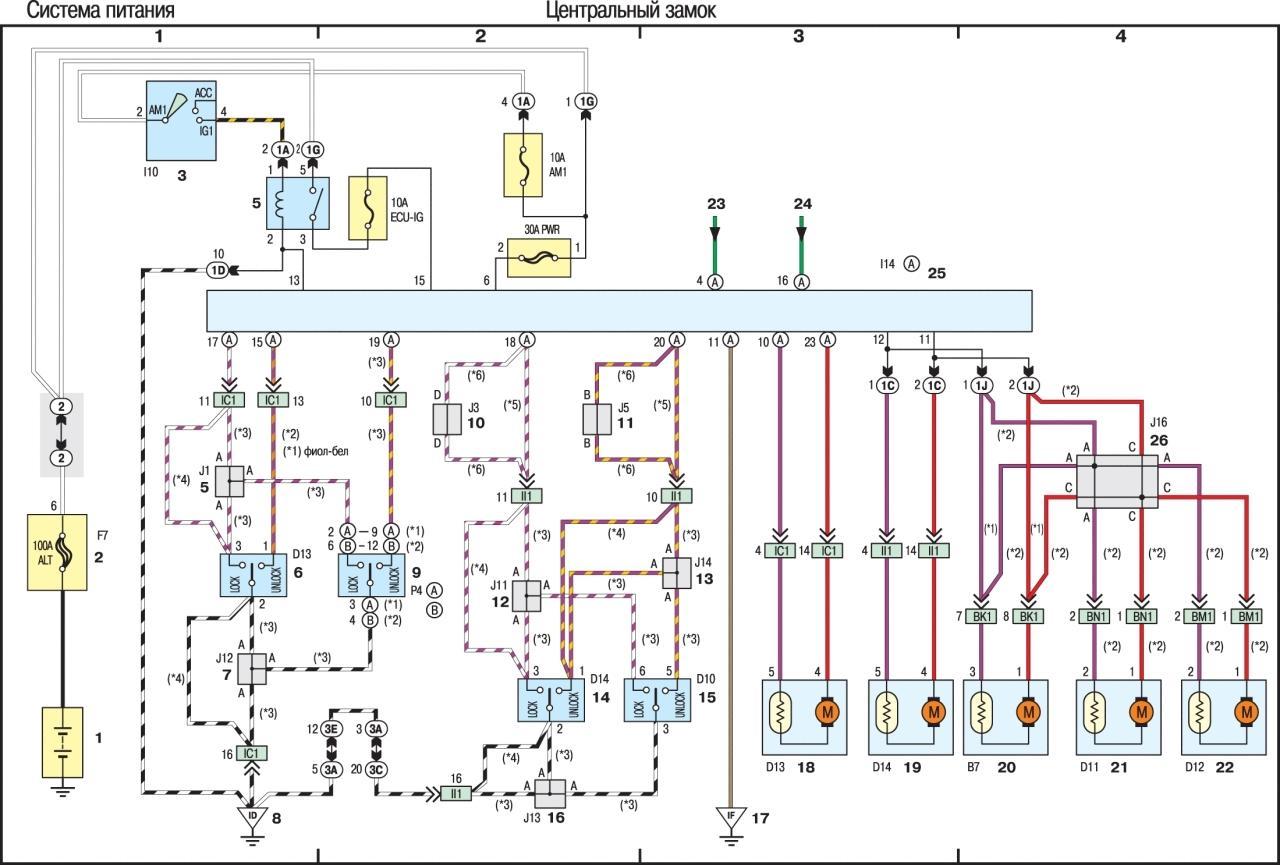 тойота рав 4 электрическая схема подключения фар