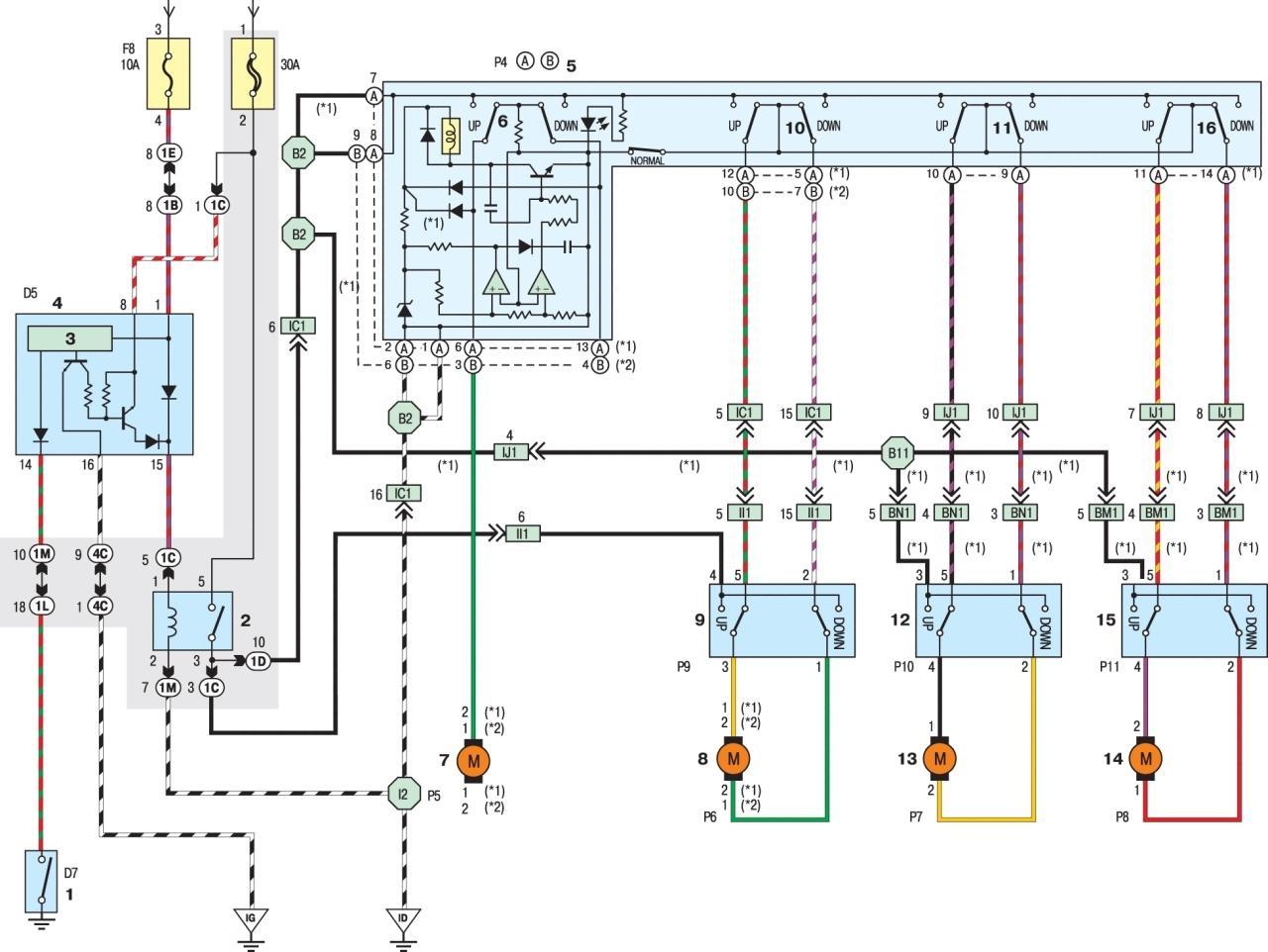 Схема стоп сигналов тойота рав 4